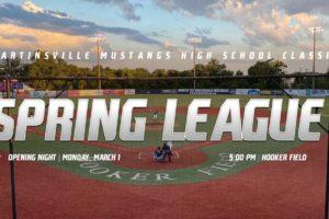 Martinsville Mustangs Announce Spring High School League