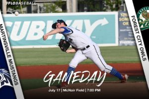 July 17 Gameday: Mustangs Travel to Forest City