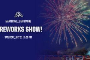 FIREWORKS UPDATE: Postponed to Saturday, July 31
