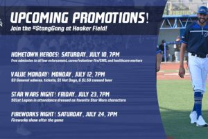 Upcoming Promotions at Hooker Field!
